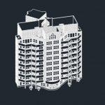 نما 2D ساختمان 10طبقه