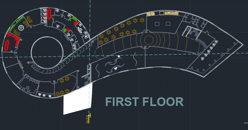 طراحی پلان دانشکده معماری